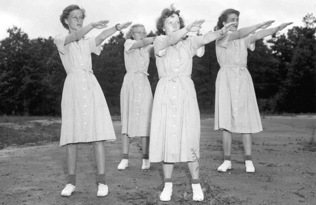 Exercise in 1950s