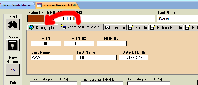 PORTS - How to enter new patient - 03