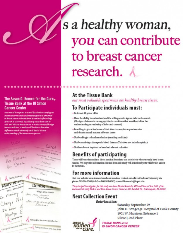 Komen tissue collection event 2012 @ SHCC