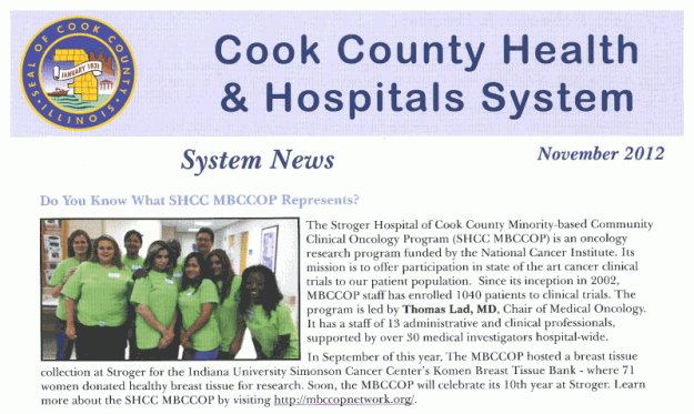 Cook County Health and Hospitals System Newsletter - November