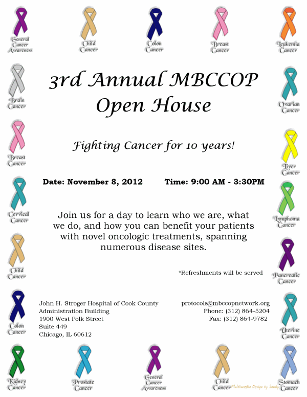 MBCCOP Open House 2012 flyer